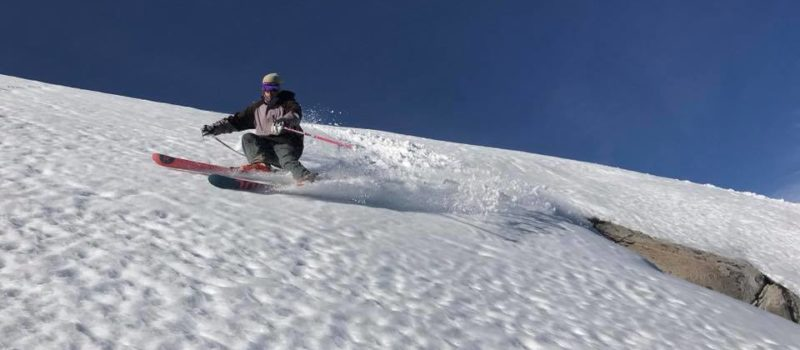 corn snow at squaw valley, skiing corn, andy hays skiing corn, spring snow conditions at squaw