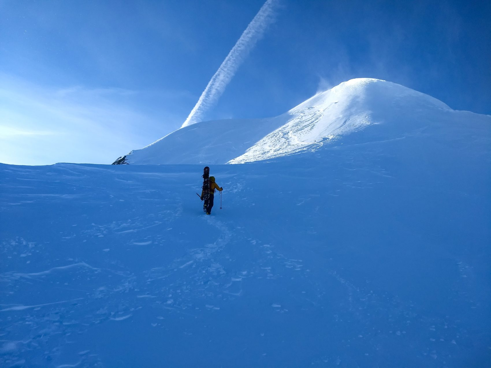 climber ascending rogers peak