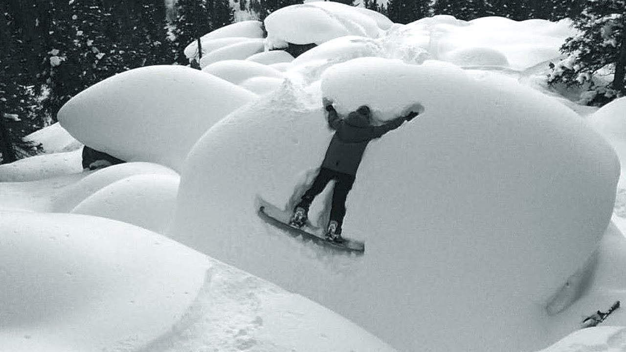 Pillows are hard, pillow fail, snowboard fail pillow, snow conditions pillows