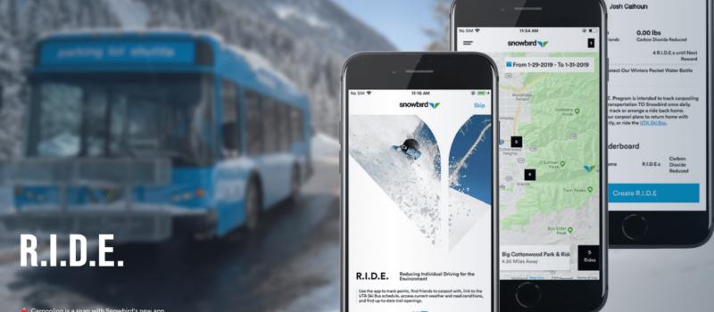 snowbird, ride, app, carpooling