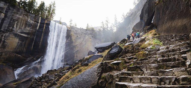 mist trail, yosemite, hiker, killed, falling rock and ice