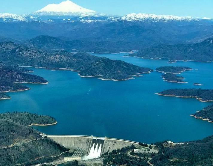 Shasta lake, reservoir, california