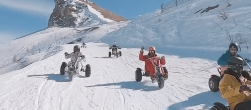 Mario Kart, serre chevalier, france, Europe downhill, racing, kart