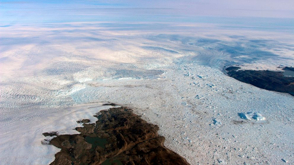 glacier, Greenland, nasa