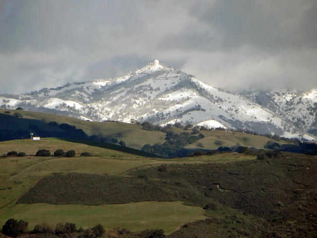 Bay Area, San Francisco, Mount Hamilton, record snowfall, records