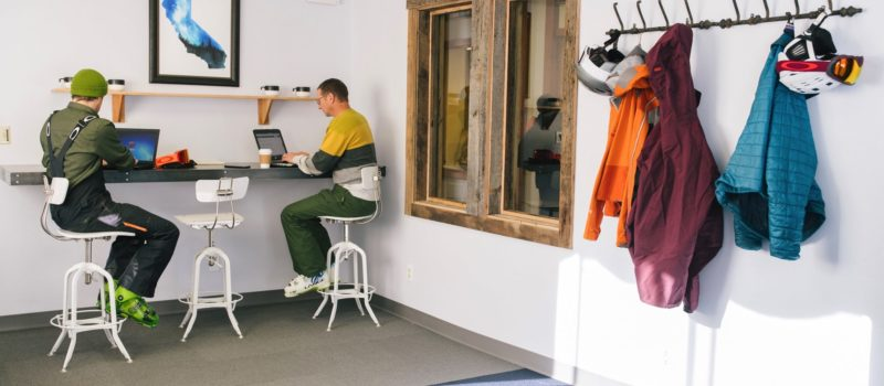 the fort, mammoth, california, ski-in-ski-out office