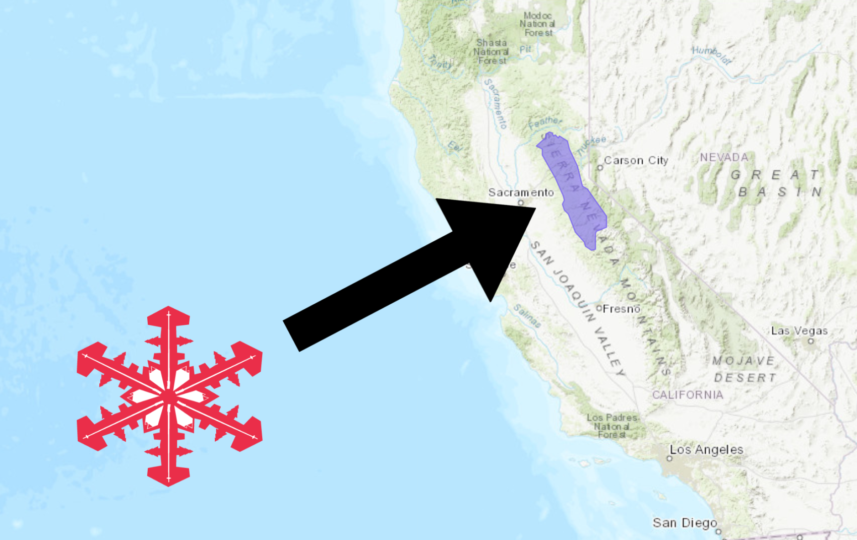 NOAA: Winter Weather Advisory Issued For California   3-6+