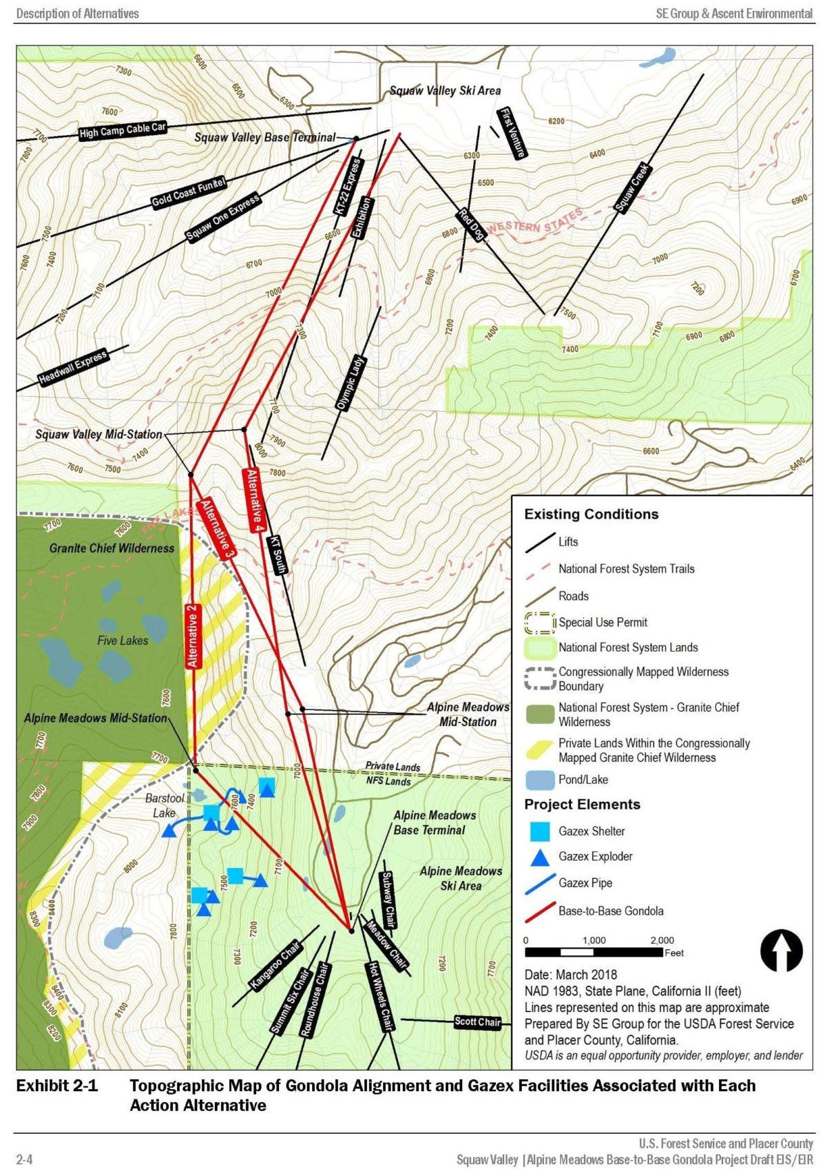 Squaw Valley, alpine meadows, gondola, placer county, Sierra watch