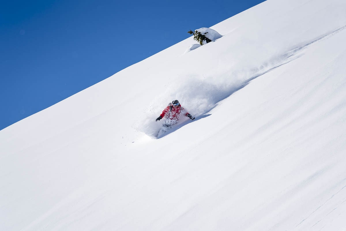 making turns in powder heaven