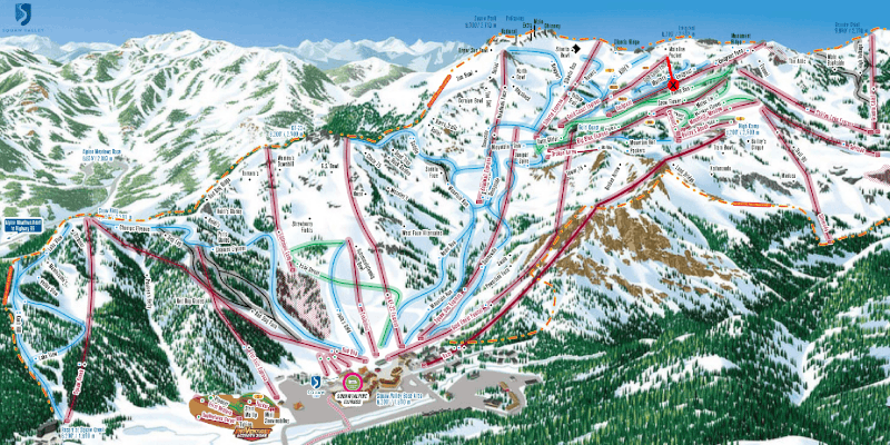 Map showing accident at Squaw Valley April 12, 2019, Kid skis into lift tower!