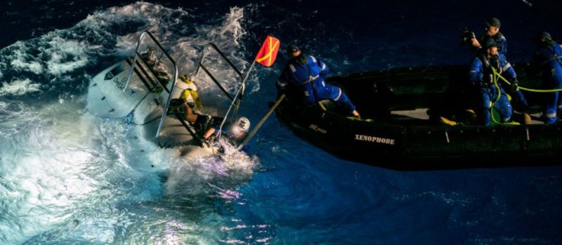 plastic bag, waste, Mariana Trench, pacific, diving