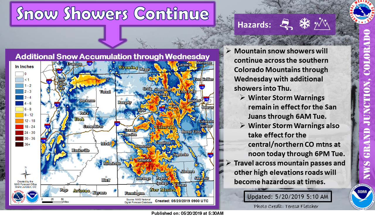 NOAA: Winter Storm Warning Issued For Colorado | 8-18