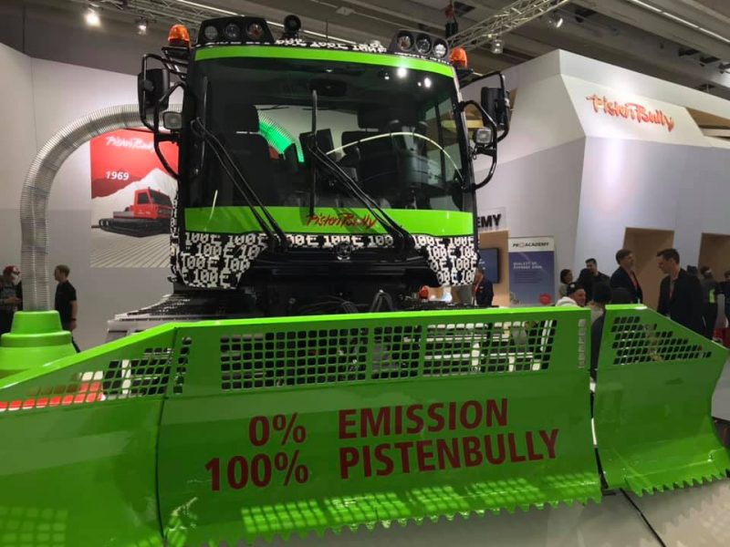 PistenBully, environmentally friendly, green, electric groomer
