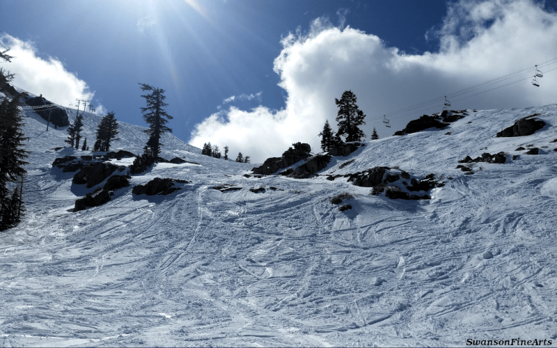 Squaw Valley Photograph by SwansonFineArts April 2018 with Ikon Pass