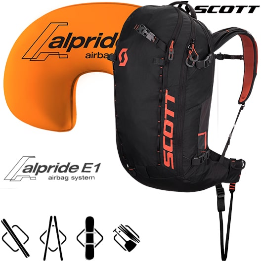 avalanche, airbag, Scott, backpack, review
