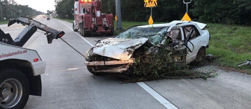 car wreck, crash, man survived, Texas, 5 days