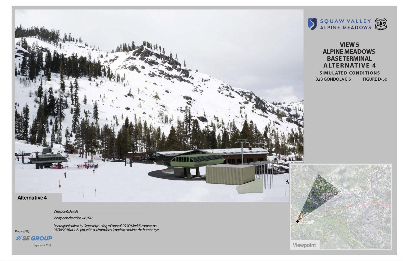 squaw, alpine, gondola, california