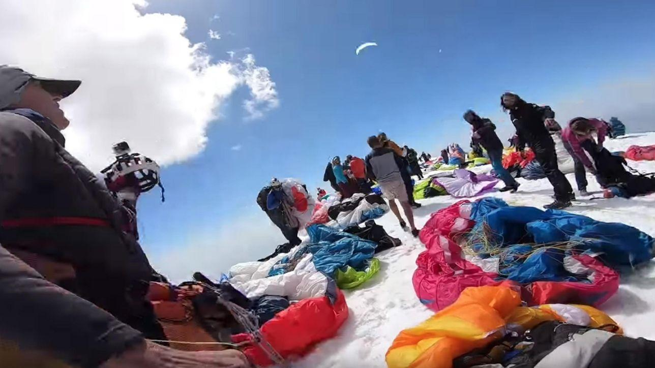paragliders, mont blanc, France, record, europe