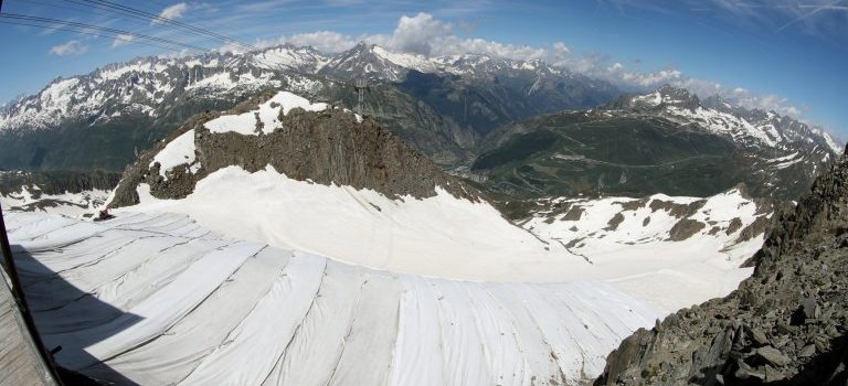 glacier, melting, Switzerland, blanket