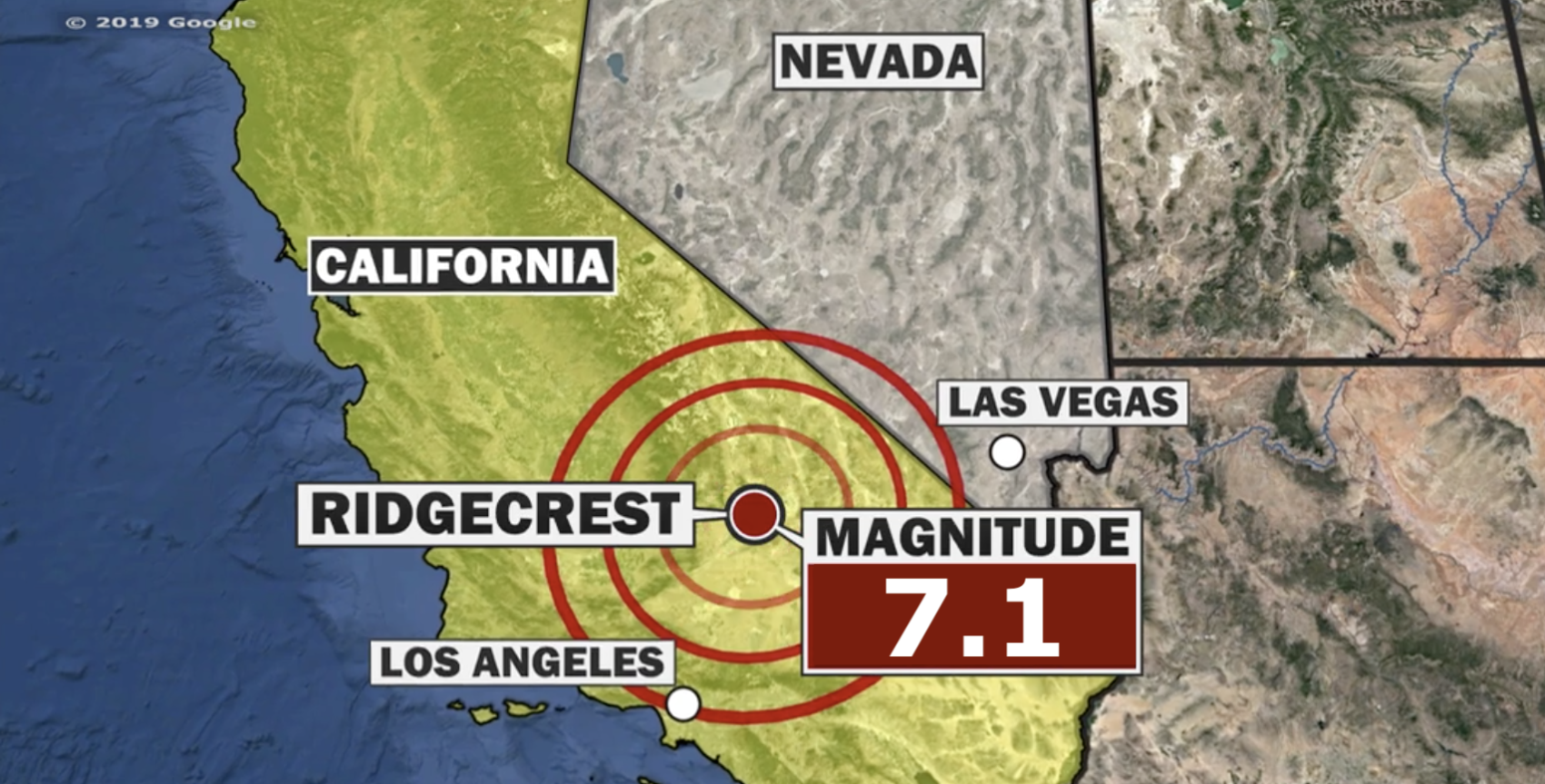 Large 7.1-Magnitude Earthquake Hits Southern California ... on southern california fault line map, ca drought map, ca landslides map, fairfield ca map, ca volcano map, ca universal studios map, ca road map, current california earthquakes map, ca fault line map, ca oil spill map, ca power outage map, ca freeway map, ca wildfires map, new madrid fault damage map, ca city map, ca regions map, ca fire map, ca airport map, southern baja california map, ca seismic zone map,