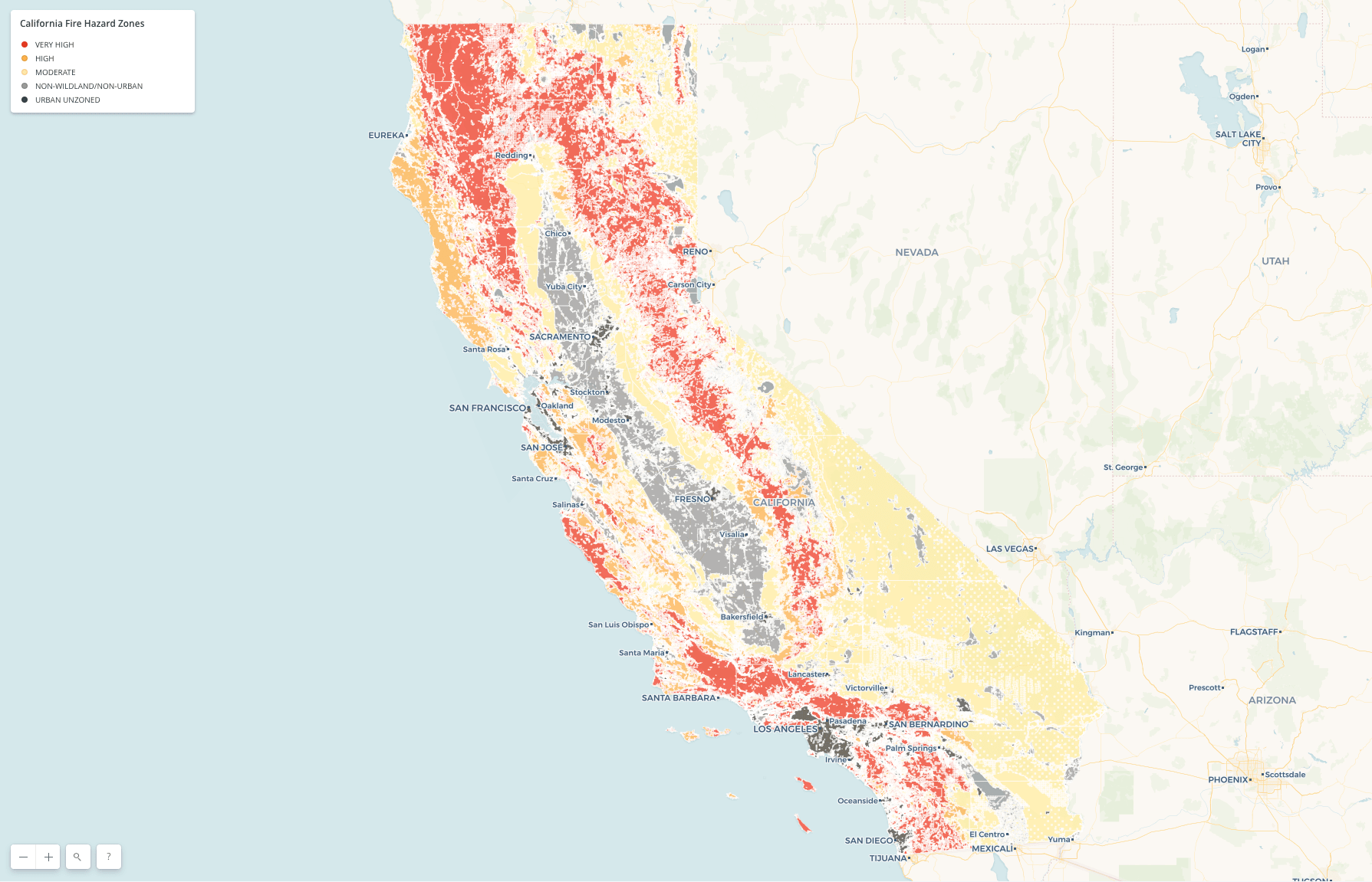 what's your risk of fire? california wildfire hazard and