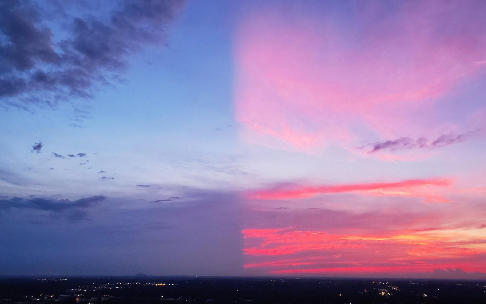 split sunset, sunset, photograph