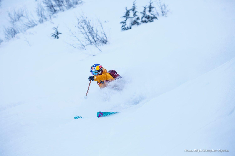 Professional skier Angel Collinson