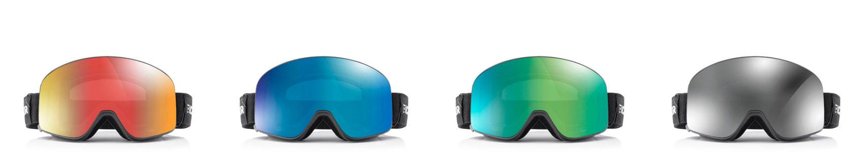 Ski goggles, IceBRkr colors offered, headphones