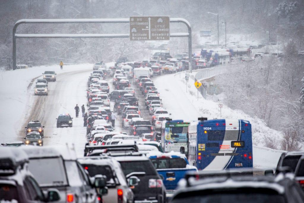 Little Cottonwood Canyon traffic jam