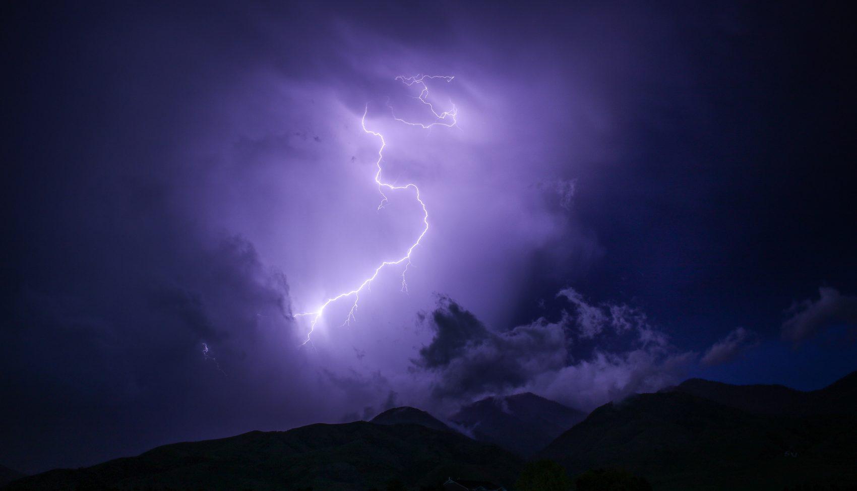 lightning, boulder, flagstaff mountain, lightning strike, colorado