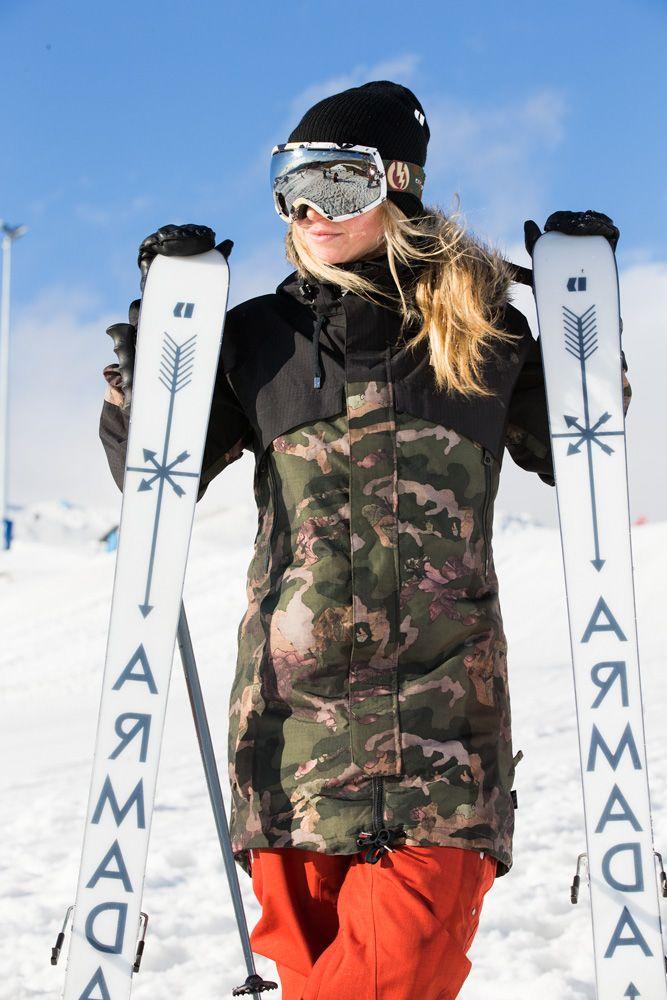 Professional skier Maude Raymond