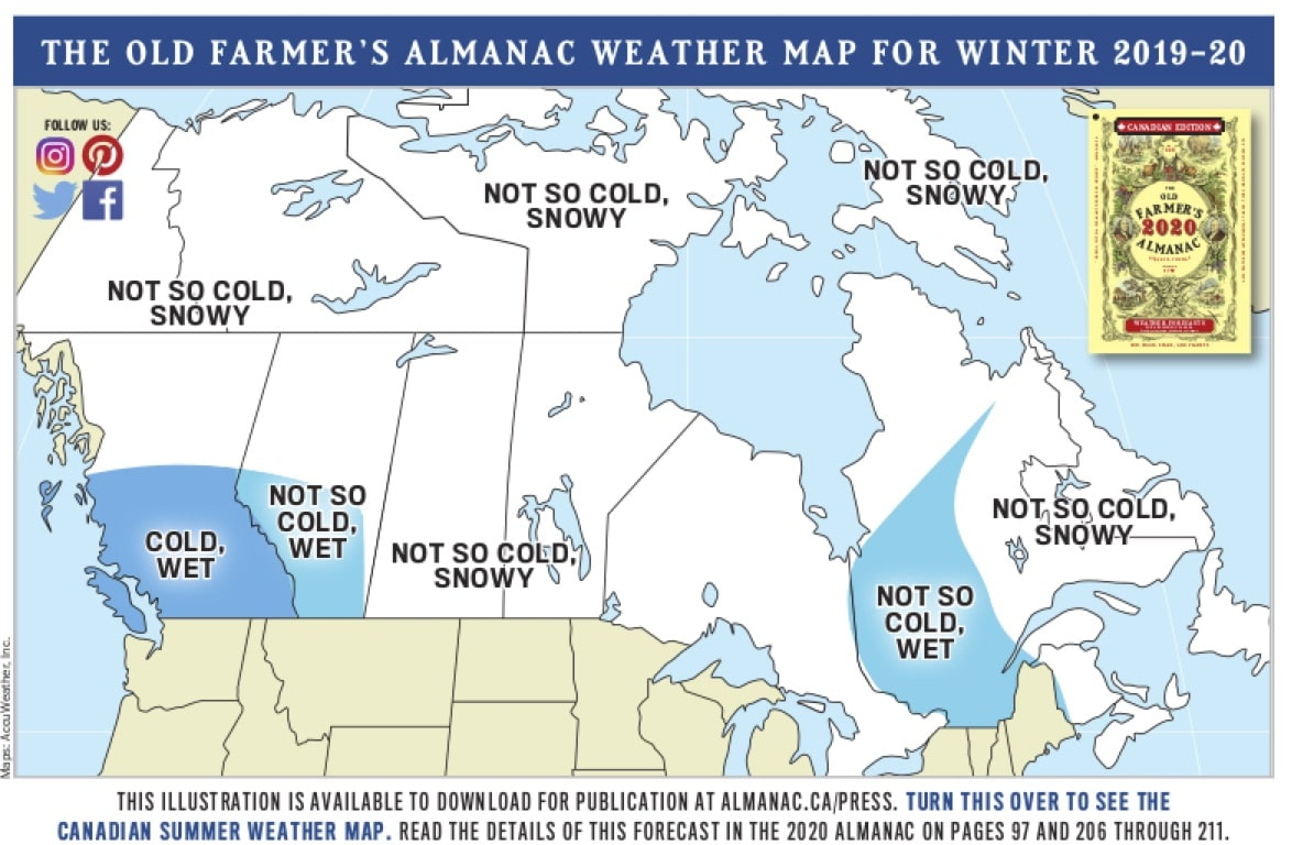 almanac, old farmer's almanac, forecast, winter, canada