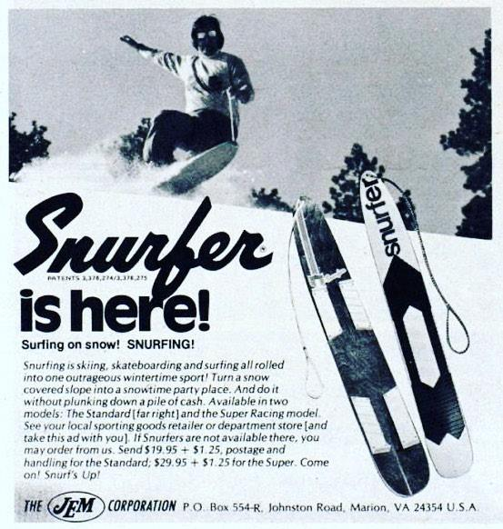Snurfing, Snurfer, snowboarding