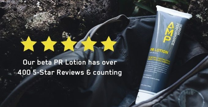 pr lotion, amp human performance