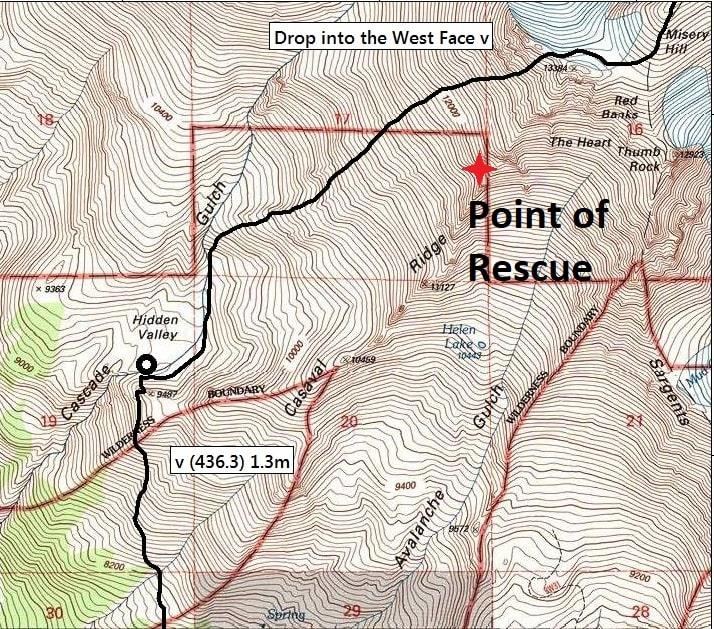 Shasta, rescue, crevasse, california