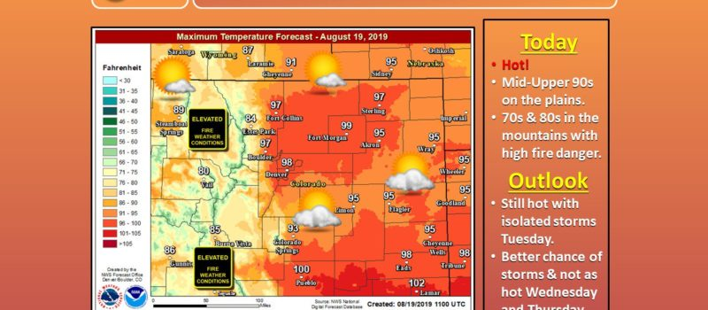 weather, highs, temperatures, hot, record, Denver, colorado