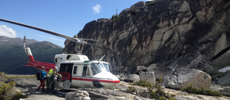 Backcountry Helicopter hiking