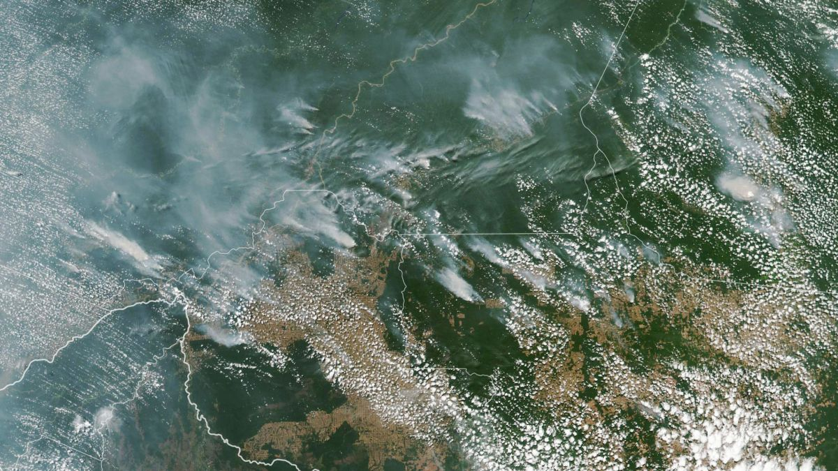 Satellite imagery of the Amazonian wildfire