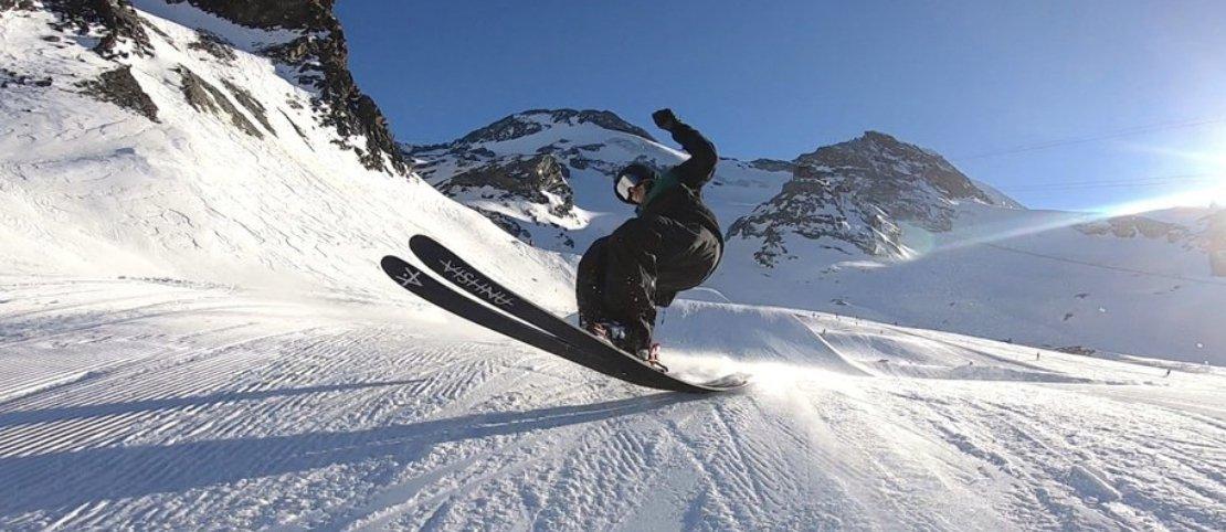 Buttering skier