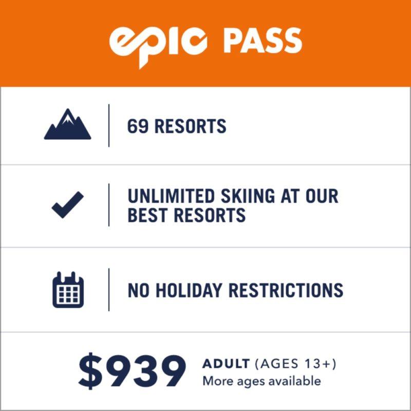 price, epic pass, vail resorts