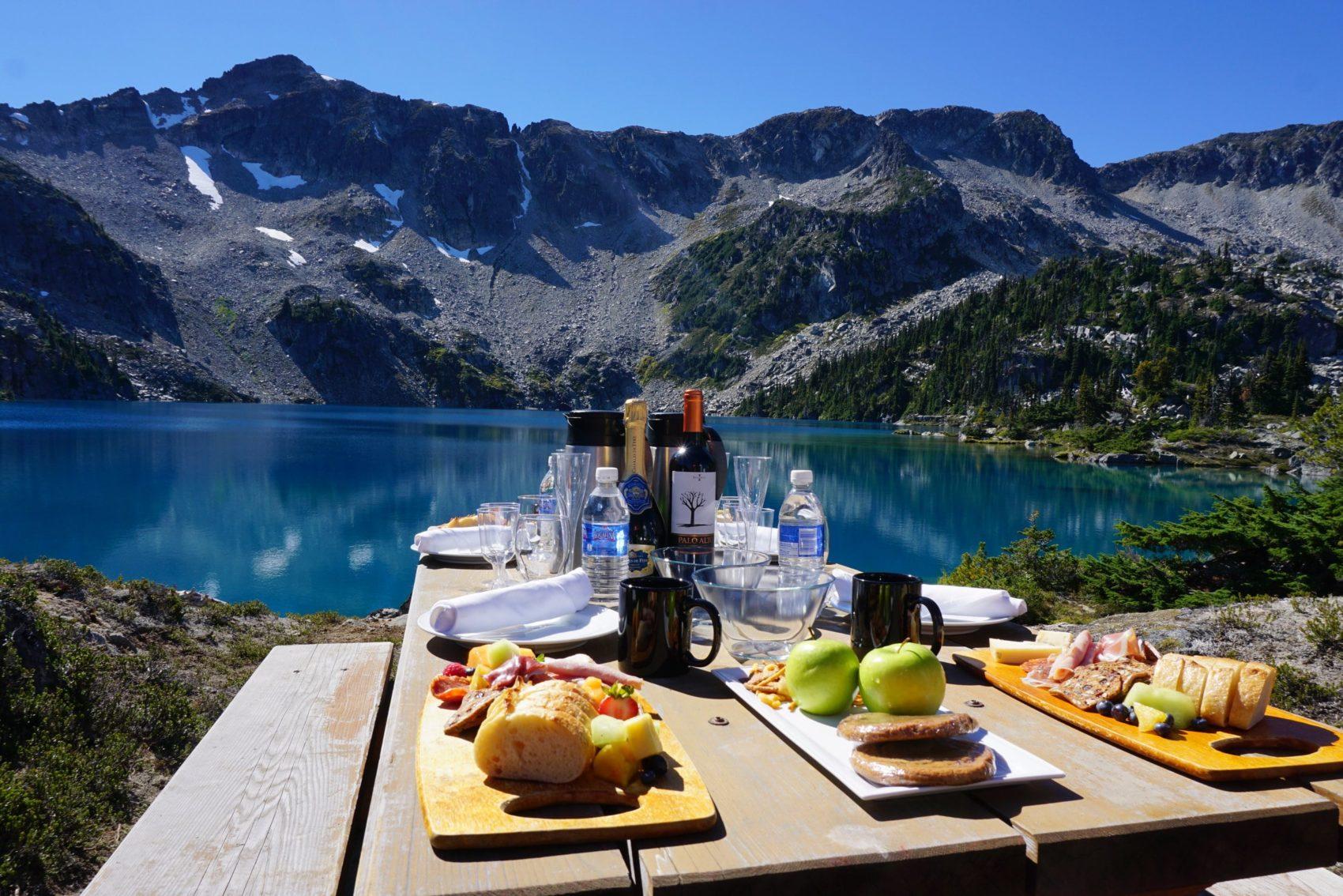 heli-paddling lunch