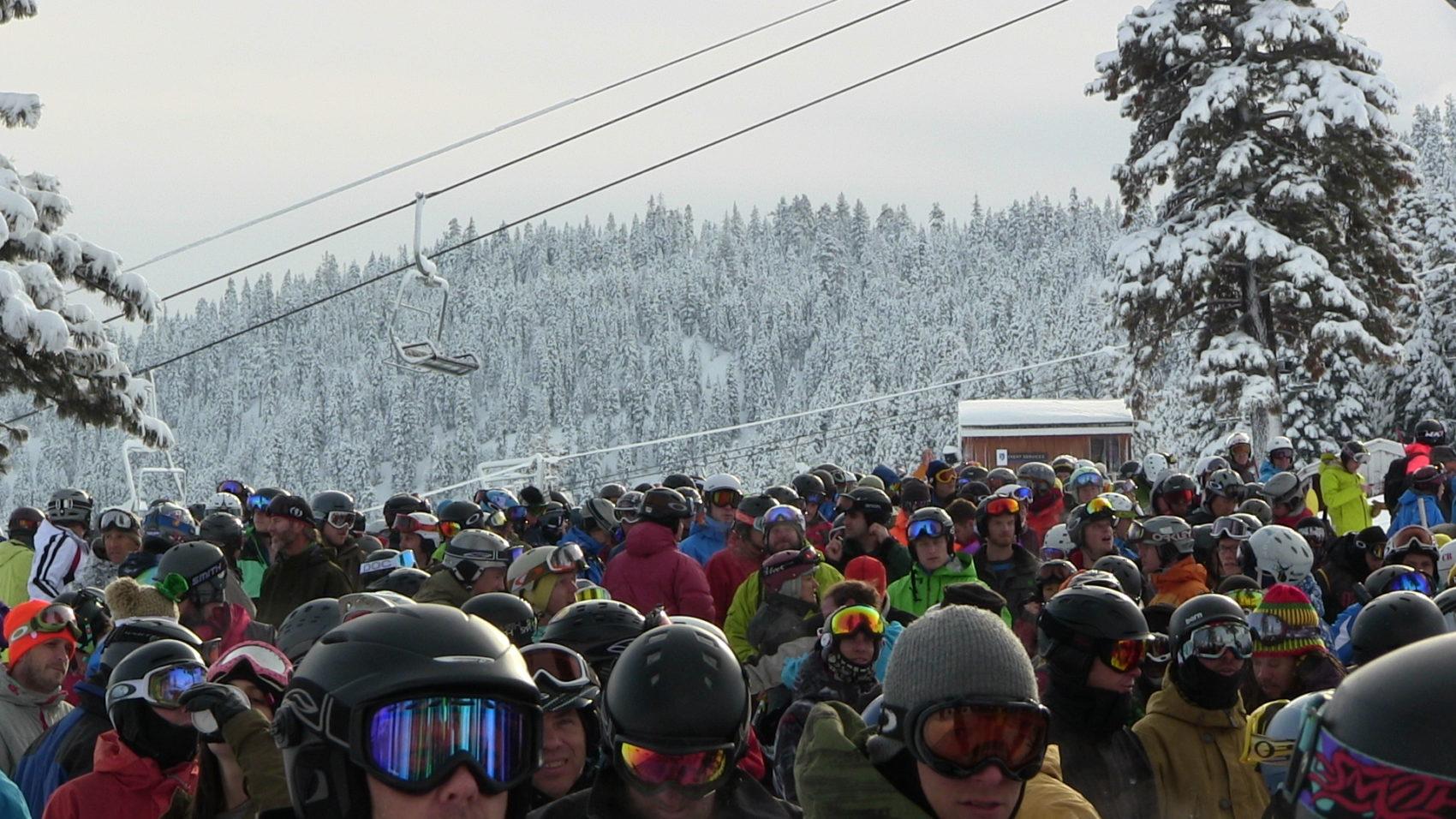 A massive lift line
