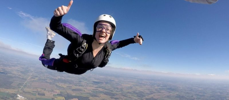 skydiving, Canada, woman survived, parachute didn't open,