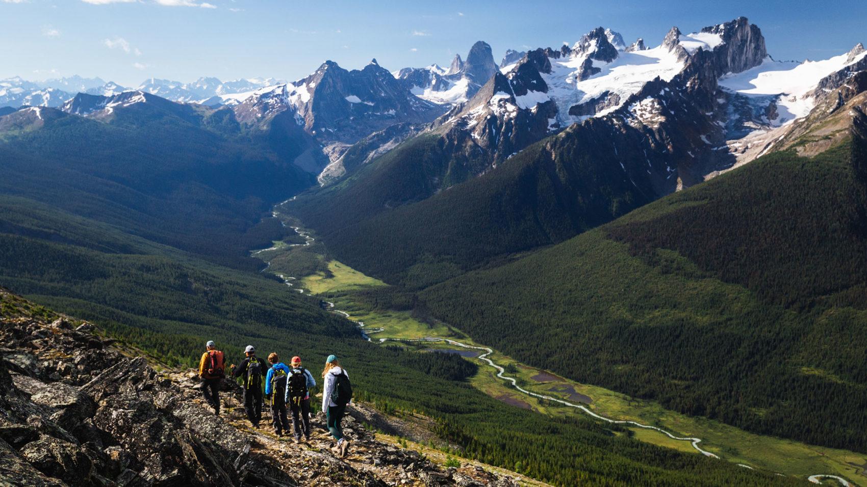 Heli Hikers in the Bugaboos. Heli-hiking