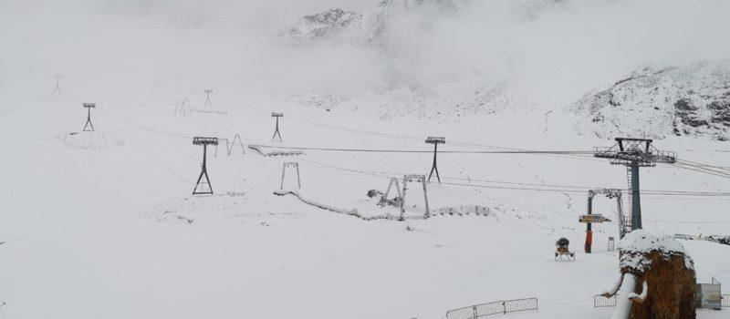 alps, glacier, winter, snowfall,
