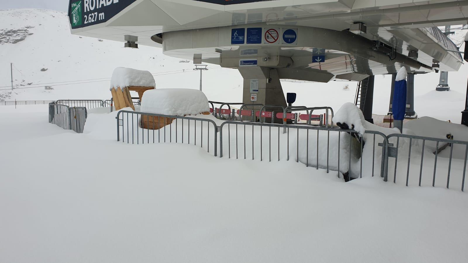 europe, stubaier gletscher, opening early, snow