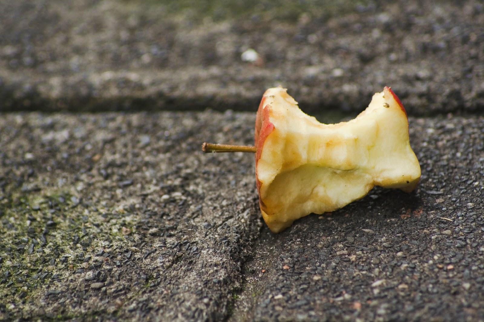 картинка огрызка от яблоками день ото дня