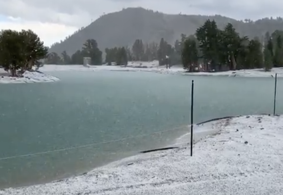 """VIDEO: Looking """"Wintery"""" at Mammoth Mountain, CA Right Now…"""