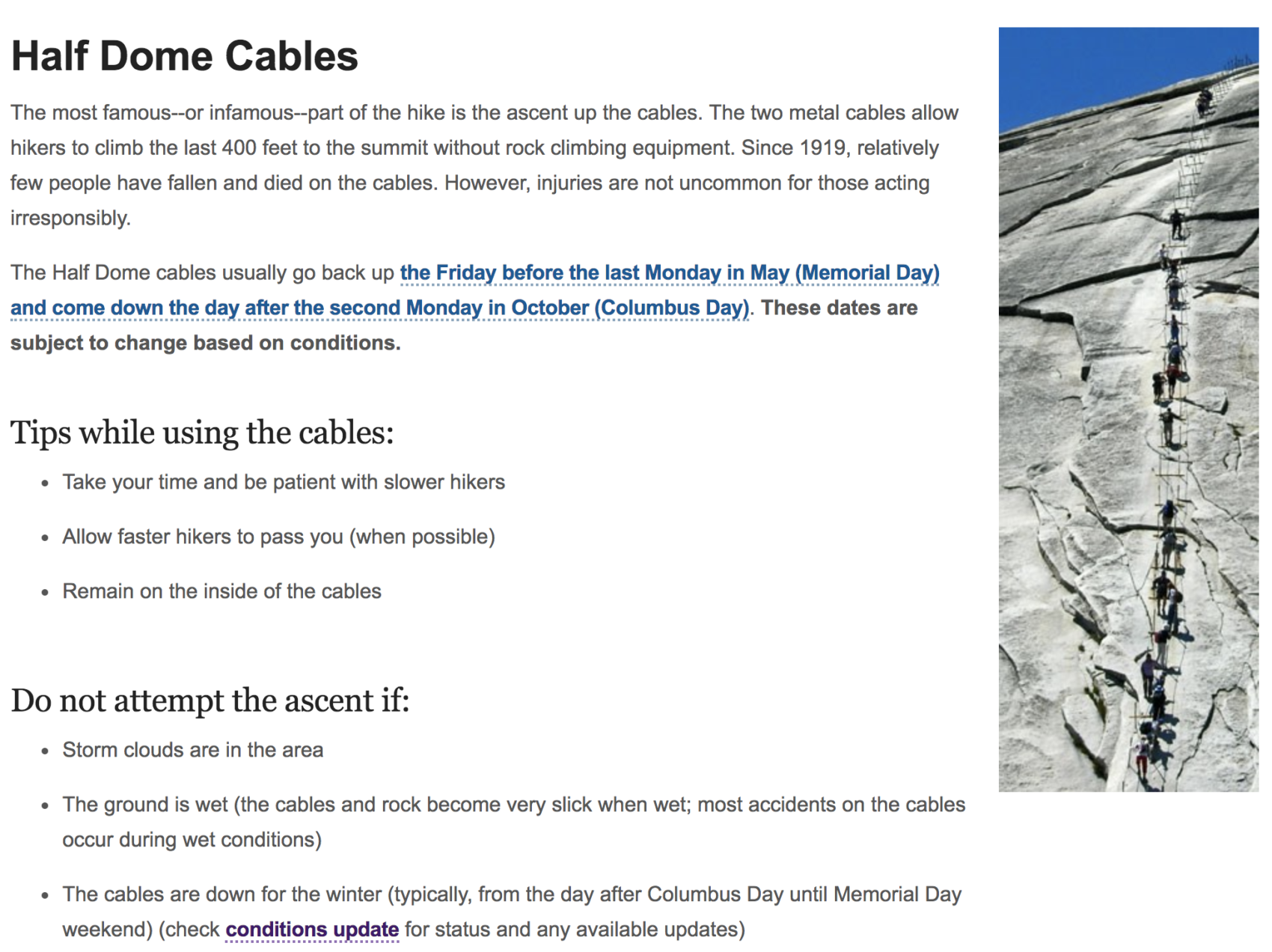 half dome, cables, yosemite, death
