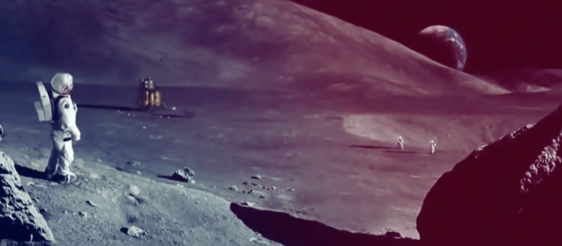 nasa, moon, mars